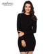 Unique Cable Knit Black Slouchy Cable Sweater Dress Women