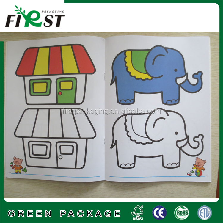 Custom top quality hot sale educational coloring book for educational children
