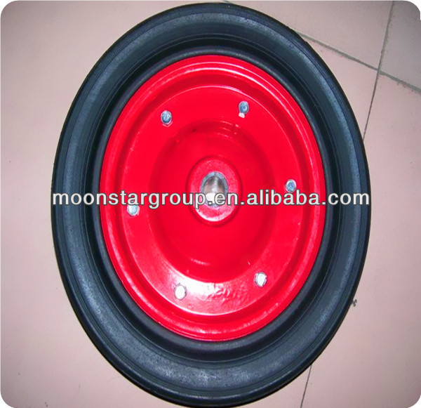 wheelbarrow solid rubber wheel