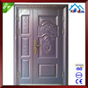 Safety Metal Wrought Iron Front Double Door Designs Exterior