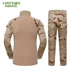Custom men's outdoor frog camouflage military spanish desert camo uniform
