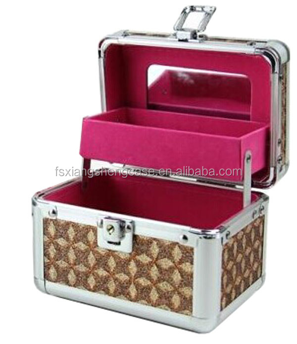 fashional aluminum make up small beauty case cosmetic case