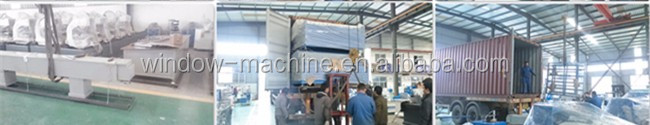 PVC door window frame profile welding machine