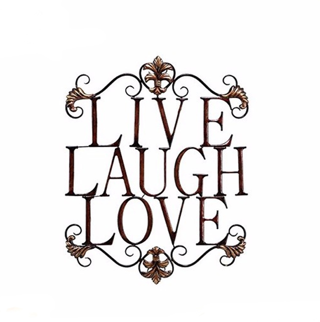 Live Laugh Love Modern Abstract Metal Wall Art Home Decor Decoration