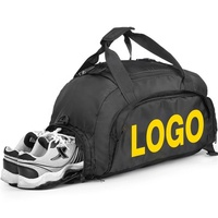 Smallest MOQ custom logo unisex multifunction water resistant oem gym bag duffle bag sport