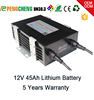 Solar charge batteries 18650 li ion battery 12V45AH battery for solar street light