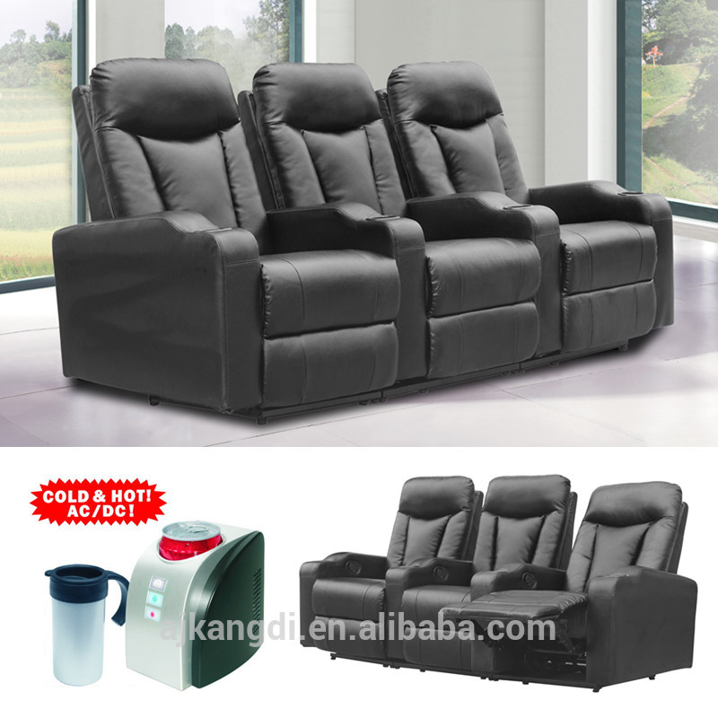 Folding Cinema Recliner Chair Home Theater With Cup Holder Cuo Cooler