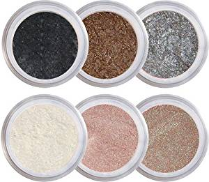 Natural Beauty Mineral Eyeshadow Kit - 100% Pure All Natural Mineral Makeup - Not Bare Minerals, Bare Escentuals, Mineral Fusion, MAC