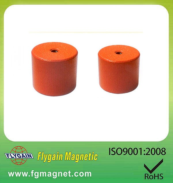 Alnico holding pot cylindrical magnet