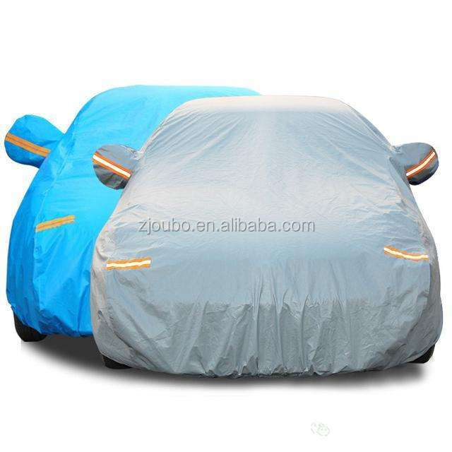 Waterproof Automatic Blue Folding Car Cover Full Set Car Body Cover
