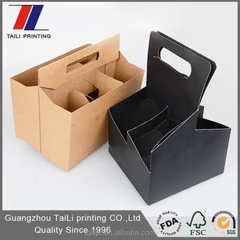six pack holder template - custom printed 4 pack and 6 pack cardboard beer bottle