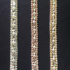 single line slim crystal with sequins beads decorative fahion trims