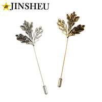 custom silver gold top classy maple leaf suit tie brooch lapel pins