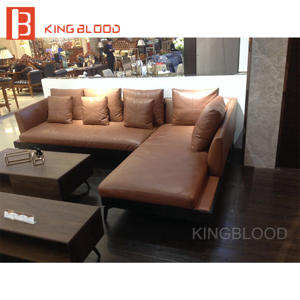 Hotel Lobby Leather Couch Sofa Set