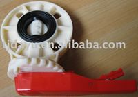 low torque new material abs valves available actuator or handle or gear worm OEM