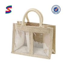 Printed Jute Shopping Bags Small Jute Drawstring Bags