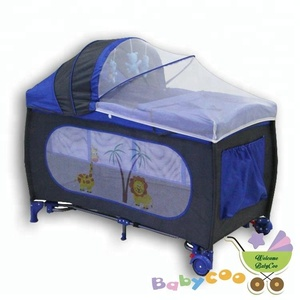 travel cot baby playpen with mosquito net infant travel crib