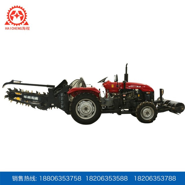 Factory supply high quality digging chain tractor trencher machine