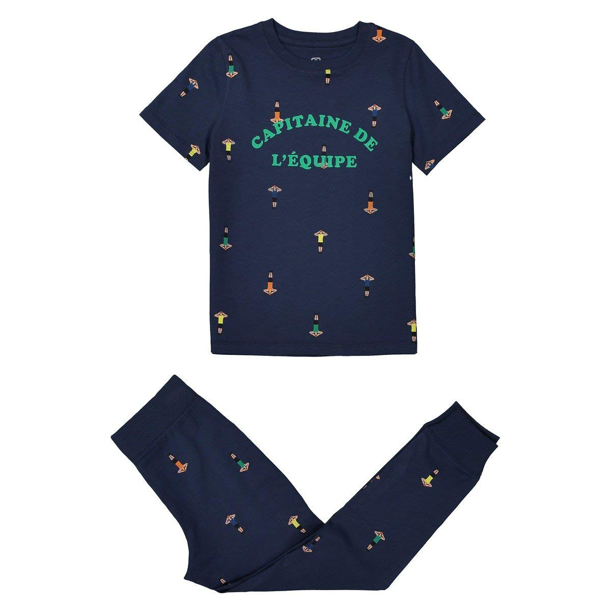 a7beacaa5ab43 Get Quotations · La Redoute Collections Big Boys Printed Cotton Pyjamas,  2-12 Years