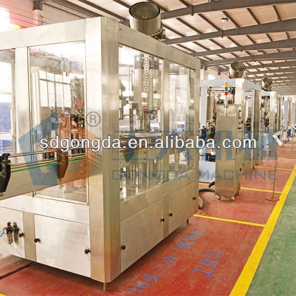 3-in-1 filling machine for cola, soda etc.