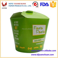 Fast food pasta salad noodle box disposable take away paper packaging wholesale china supplier