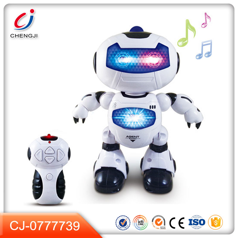 New intelligent rotated dance remote control robot with light