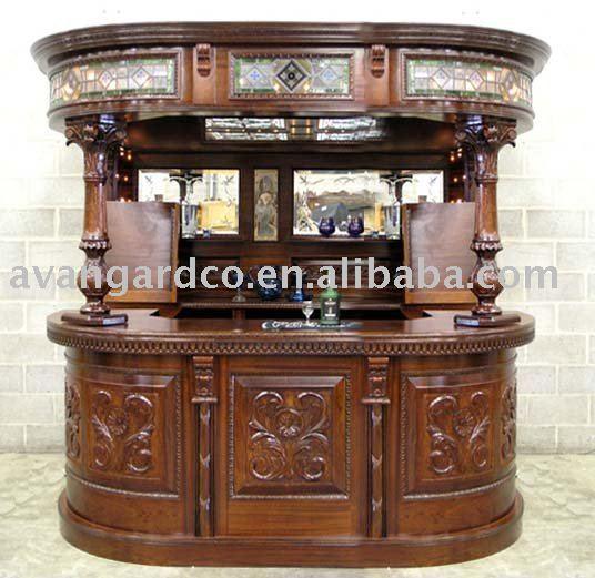 Antiguos de madera maciza bar mueble mueble bar barra bar for Modelos de bares de madera