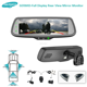 7.2 inch full LCD screen rearview mirror 4 cameras display monitor for bus truck camper van pickup motorhome
