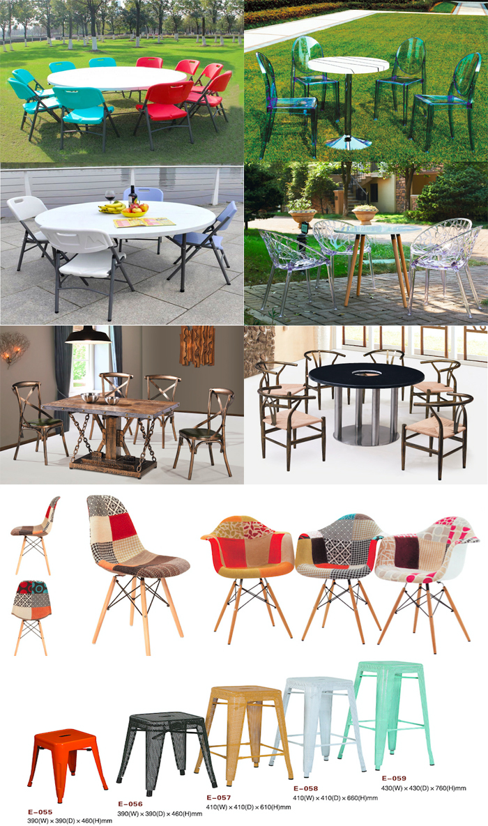 10 people plastic round folding table outdoor banquet table for wedding party