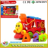Cartoon Education Train Toys for Babies battery operated train with learning alphabet