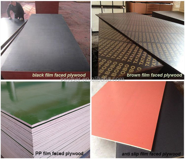Pp Faced Plywood ~ Pp plastic coated marine plywood for concrete formwork