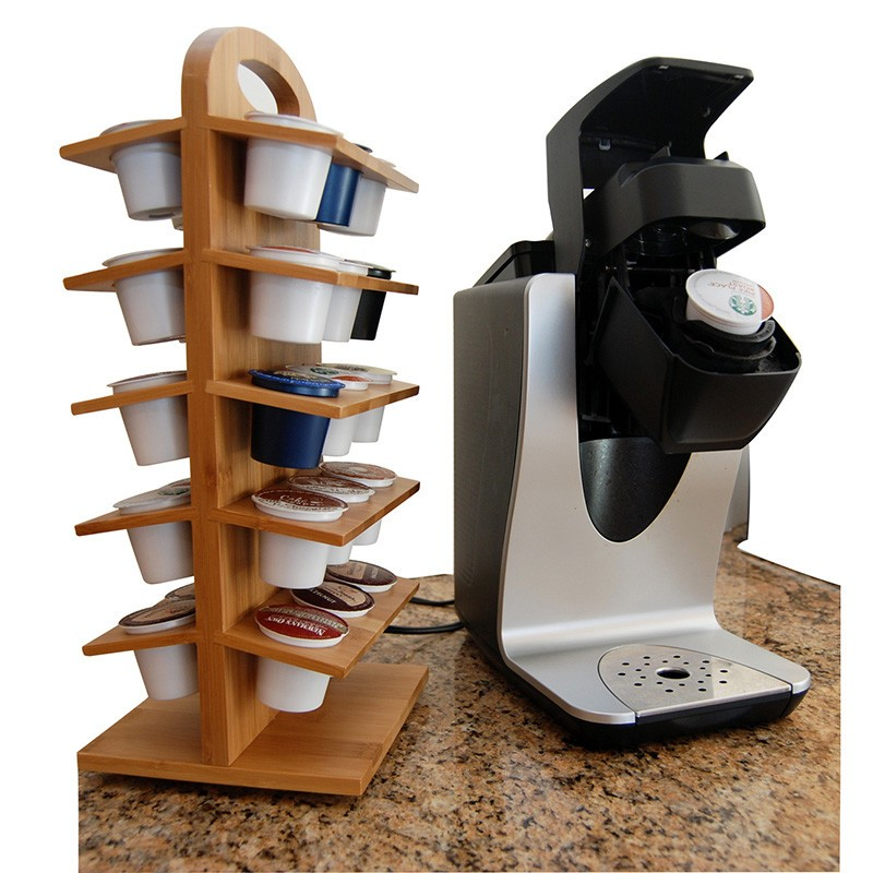 wooden bamboo coffee pod holder 5