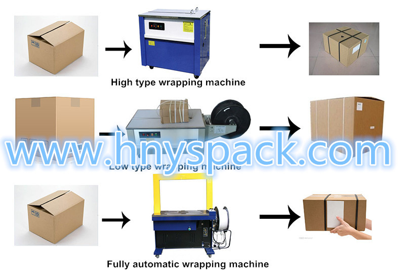 Low table High Performance Semi Auto PP belt Strapping Machines