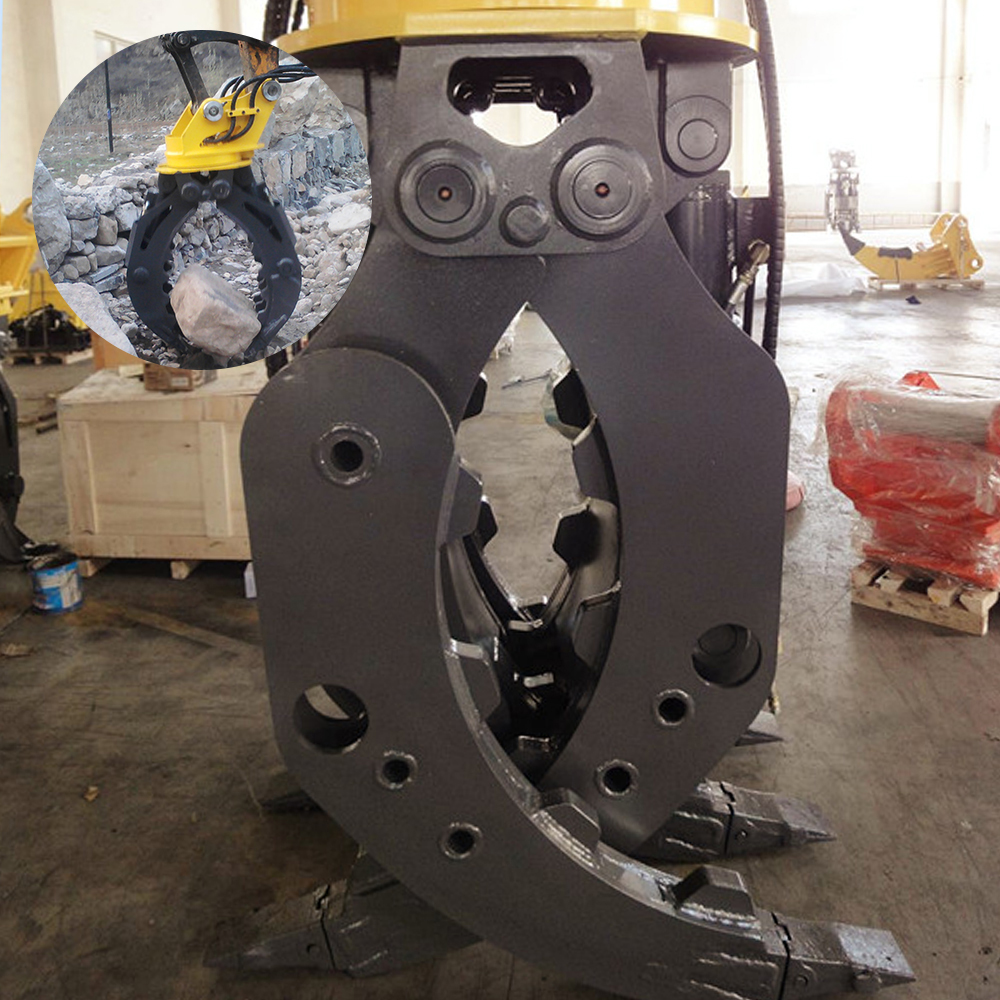 kubota excavator rotating grapple for excavator spare parts