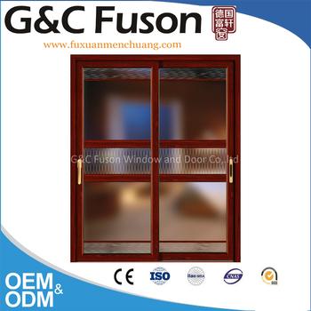 2016 Modern Aluminum Glass Sliding Door With Side Install Box