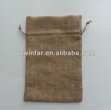 Drawstring Jute Gift Pouches/Jute Bag Making Machine/Jute Coffee Bag Printing Machine