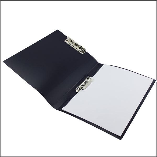 Metal Clip Binder Blue Plastic Document File Folder Holder