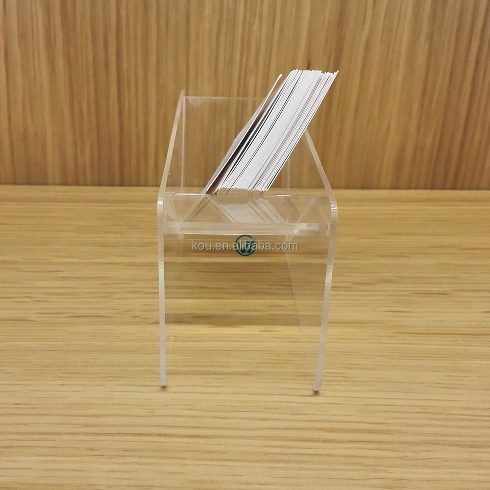 Manufacturer wholesale cheap clear plastic business card case for mobile phone store
