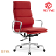 red color italian leather luxury office chairs meeting room chairs RF-E103B