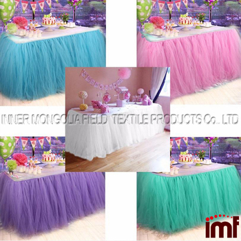 Tutu Table Skirt Baby Shower Birthday Party Children Decoration