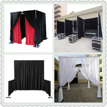 Hot Sale Exibition Stand /wedding Backdrop Kits /photo Booth Curtains