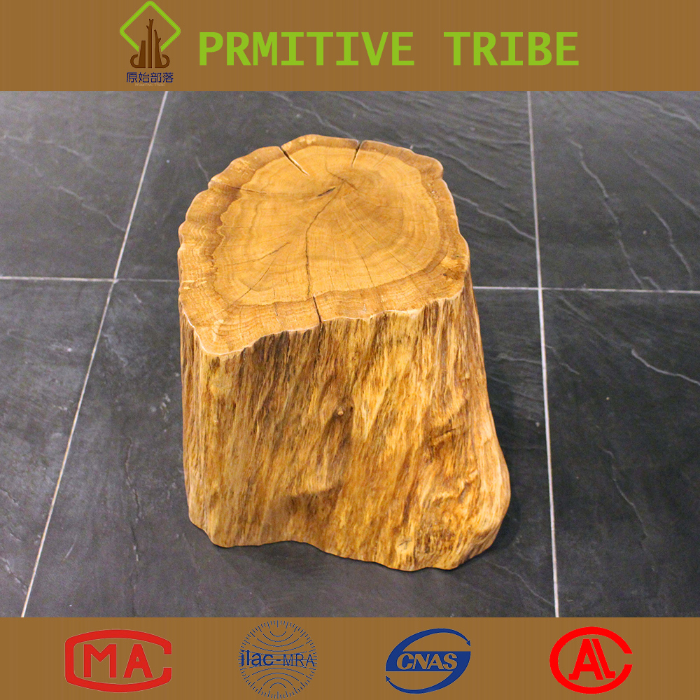 Original Ecological Design Natural Soild Wooden Tree Stump Stool