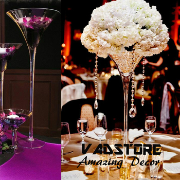 24u0026quot;martini Glass Vase Wedding Table Centerpiece Flower Holder  Centerpiece