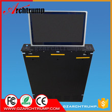 CE RoHS FCC Electric Lift LCD Display with widescreen for Conference Room