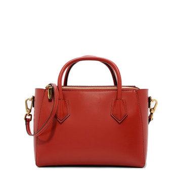 Uk Market Hard Leather Women Bucket Mauve Waxed Handbags