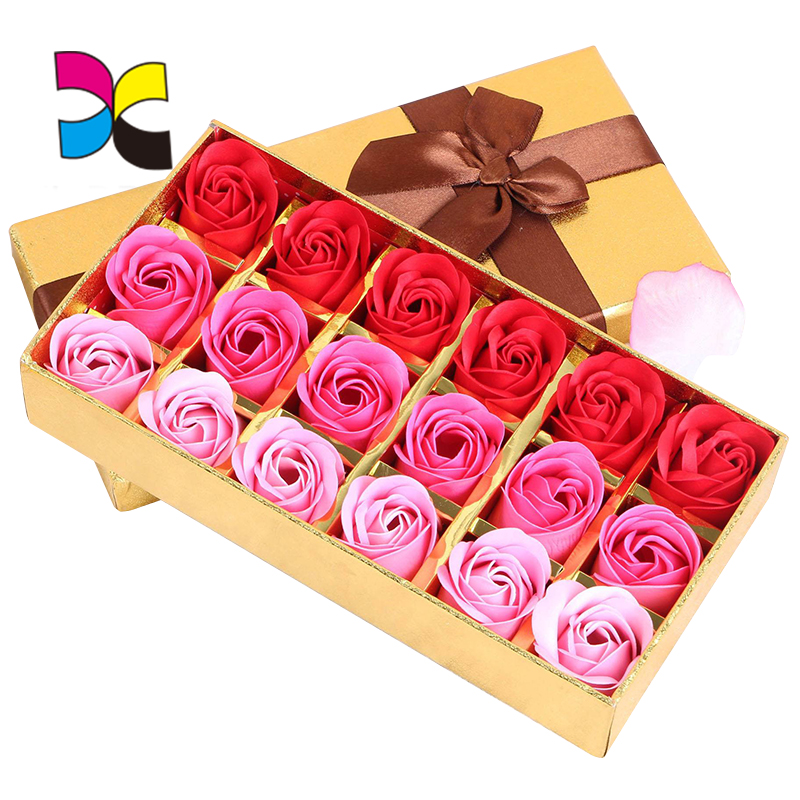 Free sample OEM Alibaba online shopping customized full color printing flower box