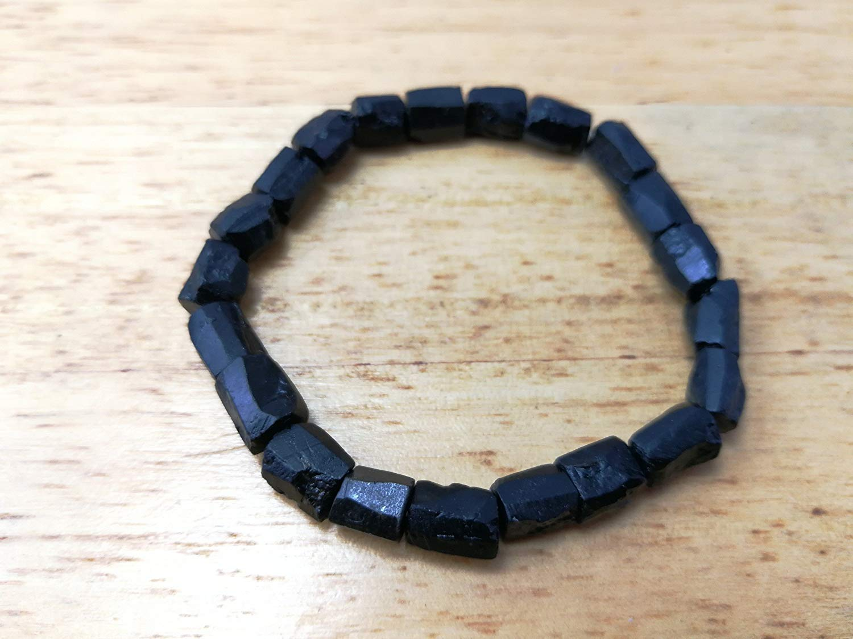 Rough Black tourmaline,Tourmaline Bracelet,Tourmaline Stretch bracelet,Tourmaline Jewelry,Unisex bracelet,black tourmaline bracelet- Size 6.5,7.0,7.5,8.0,8.5,9.0 inches