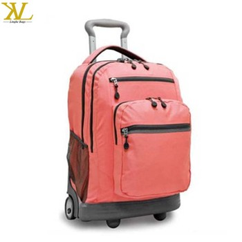 20 Inch Rolling Laptop Backpack, Wholesale Trolley Wheeled Backpack Bag