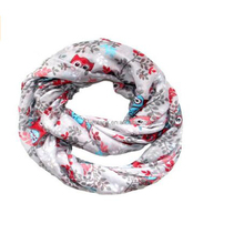 Women High Quality various color pattern chiffon scarf