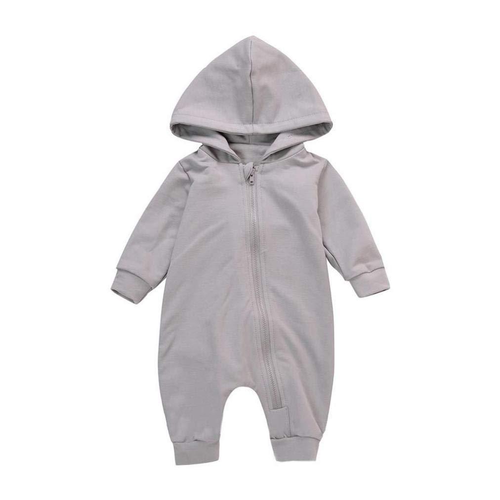 Newborn Autumn Dinosaur Zipper Jumpsuit,Jchen(TM) Newborn Infant Baby Boys Girls Hooded Dinosaur Print Romper Jumpsuit Outfits for 0-18 Months (Age: 3-6 Months)